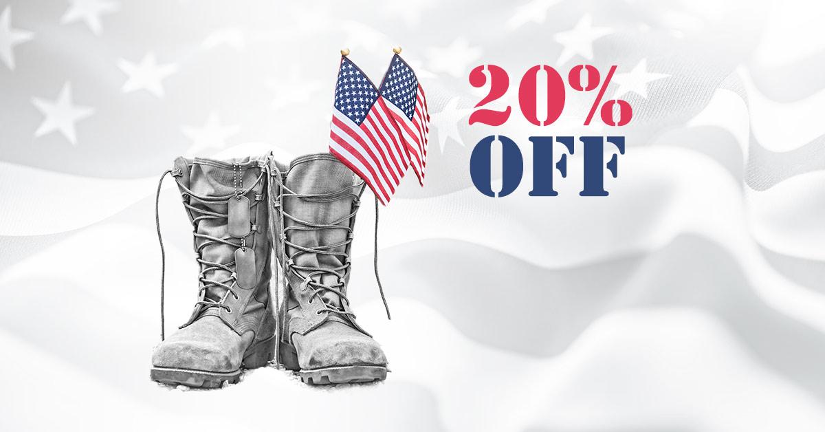 20% OFF For Veterans