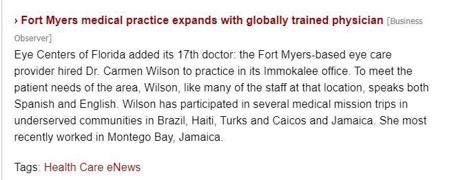 Florida Trend Recognize Dr. Wilson