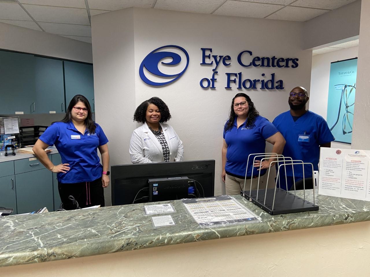 Dr. Fernandez de Castro and Eye Care Team